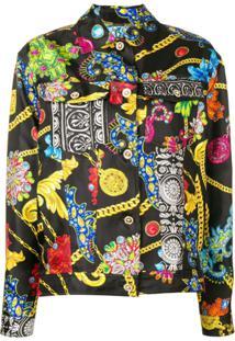 Versace Mixed Print Jacket - Preto
