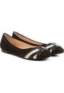 Sapatilha Couro Shoestock Elástico Gorgurão Bali - Feminino-Preto