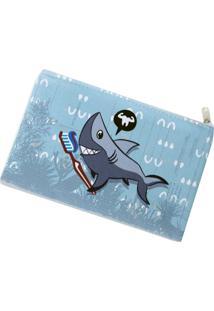 Necessaire Envelope Ó Design Tubarão Azul