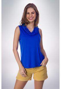 Blusa Mercatto Básica Azul