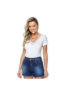 T-Shirt Daniela Cristina Gola V Profundo 05 602Dc10316 Branco