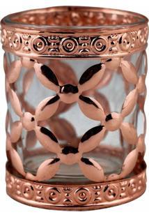 Castiã§Al De Metal Bronze E Vidro 6X6X7 Cm - Incolor - Dafiti
