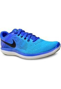 Tenis Masc Nike 830369-401 Flex 2016 Rn Azul