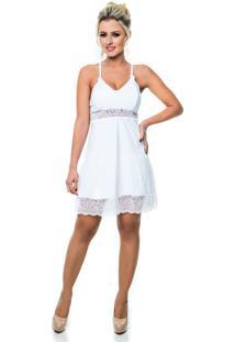 Camisola Sensual Cherry Moda ÍNtima Branca - Branco - Feminino - Poliamida - Dafiti
