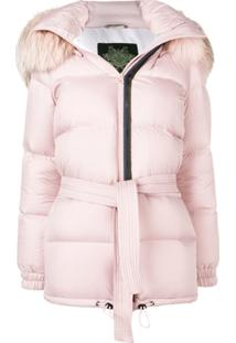 Mr & Mrs Italy Hooded Puffer Jacket - Rosa