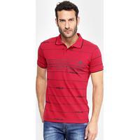 Camisa Polo Em Piquet Estampada Polo Rg 518 Manga Curta Masculina -  Masculino-Vermelho 81ed650733705