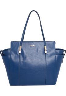 Bolsa Dumond De Mão Azul