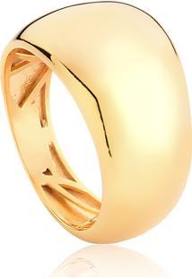 Anel De Prata 925 Com Banho Dourado Organic 3-Coleção Inizio