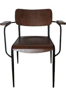 Cadeira Retro Gales Madeira Escura 80 Cm (Alt) - 47542 Sun House