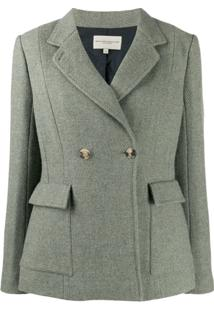 Holland & Holland Double-Breasted Fitted Blazer - Verde