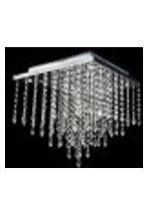 Lustre Cristal Quadrado Pirulito 38X38X38Cm - Jp/Atami/38
