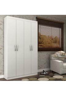 Armário Multiuso 4 Portas 8 Prateleiras Milão Siena Móveis Branco