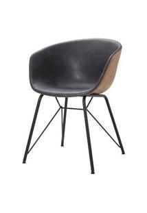 Cadeira Rey Courino Cinza Base Preto 80Cm - 62840 62840