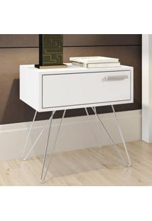 Criado Mudo 1 Gaveta Isadora Design Carraro Branco