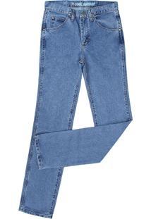 Calça Jeans Cowboy Cut Slim Fit Azul Claro Wrangler 22049
