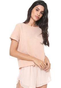 Camiseta Redley Recortes Rosa