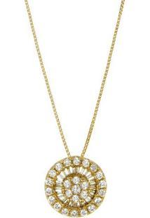 Pingente Pavê Ouro Amarelo E Diamantes