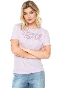 Camiseta Vans Basic Crew Lilás