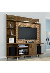 Estante Home Móveis Bechara Taurus Tv Até 47 Pol Madeira Rústica 3D