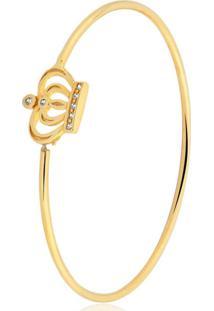 Pulseira Toque De Joia Bracelete Coroa Dourado