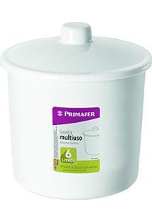 Primafer 1014-2, Lixeira Com Tampa Multiuso Plástico, Branco