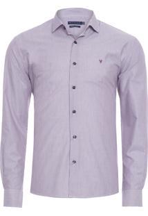 Camisa Masculina Casual - Roxo