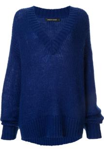 Nobody Denim Suéter Decote V 'Soho' - Azul