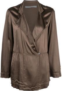 Raquel Allegra Oversized Wrap Jacket - Verde