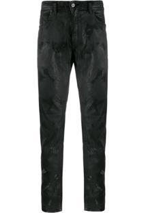 Diesel Calça Jeans Jogger Com Ajuste No Cós - Preto