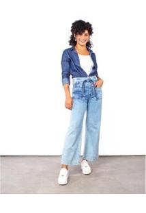 Calça Black Jeans Pantalona Feminina - Feminino