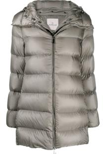 Moncler Padded Mid-Length Jacket - Cinza