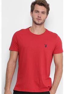 Camiseta Ellus Gola Careca Coelho Básica Masculina - Masculino