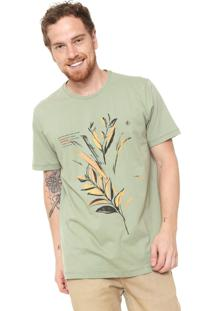 Camiseta Forum Estampada Verde/Amarela