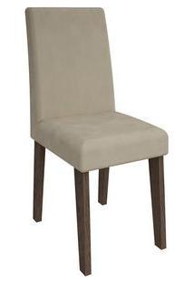 Cadeira Cimol Beatriz Amadeirado (2 Unidades) Marrocos/Bege