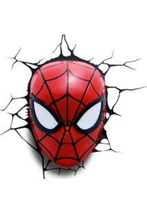 Arandela 3D Mascara Homem Aranha 1,5W Vermelho Startec