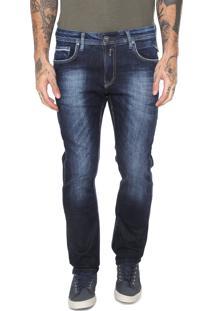 Calça Jeans Replay Reta Lisa Azul