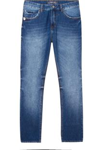 Calça John John Straight Argentina Jeans Azul Masculina (Jeans Medio, 42)