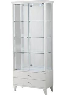 Cristaleira Zion Cor Laca Branco Semi-Brilho 80 Cm (Larg) - 37356 - Sun House