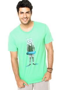 Camiseta Sommer Estampa Verde