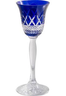 Taça De Cristal 60Ml Azul Lodz