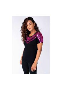 T-Shirt Joulik Bordada Zínia - Pink