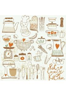 Papel De Parede Adesivo Vintage Kitchen (0,58M X 2,50M)