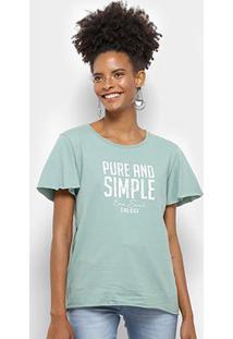 Camiseta Colcci Pure And Simple Feminina - Feminino-Verde