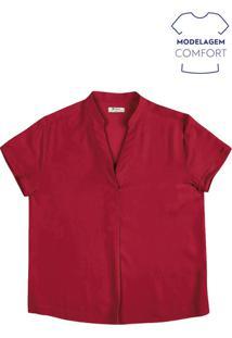 Blusa Feminina Básica Em Tecido De Viscose E Modelagem Comfort
