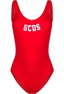 Gcds Maiô Com Logo - Vermelho