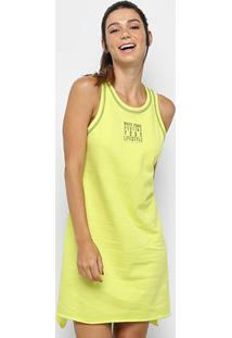 Vestido Colcci Fitness Curto Moletom Assimétrico - Feminino