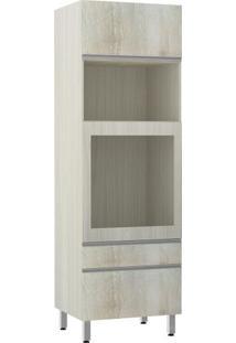 Módulo Cozinha Torre Lis Forno Embutir - 70Cm - 2579/173 - Legno Crema - Prime Plus - Luciane