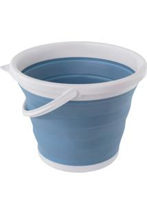 Balde Retratil De 10L Azul – Oikos
