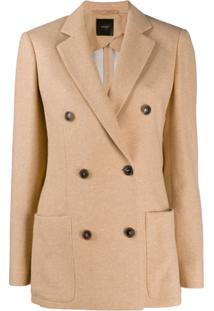 Agnona Double-Breasted Jacket - Neutro