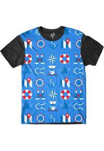 Camiseta Long Beach Náutica Boiá E Marinheiro Sublimada Masculina - Masculino